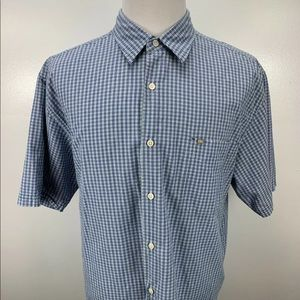 NAUTICA Mens Size XL Gingham Short Sleeve Shirt